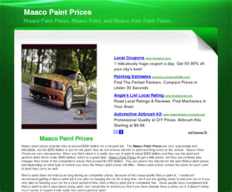 maacopaintprices maaco paint prices