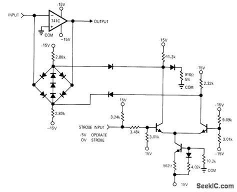 1n914 diode function clipper strobe basic circuit circuit diagram seekic