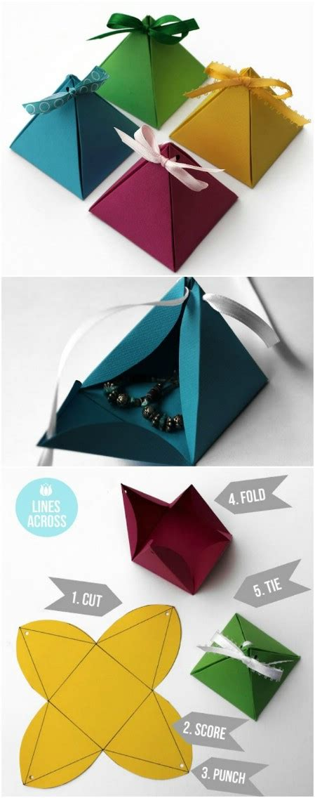 Origami Wrapping Paper Gift Box - 40 amazing gift wrapping ideas you can make