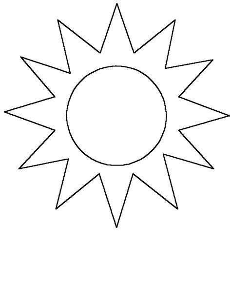Pages Template sun coloring page for clipart best