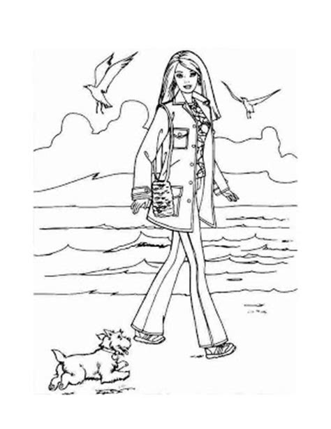 barbie dog coloring page coloring pages of barbie and her friends colorings net
