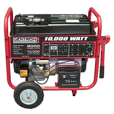 10 000 watt tri fuel generator with electric start