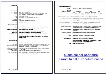 Formato Europeo Curriculum Vitae Da Compilare On Line Esempio Di Curriculum Europeo Compilato America S Best Lifechangers