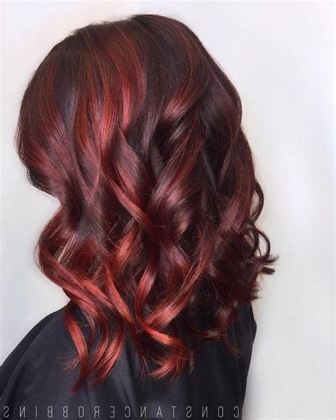 long hairstyles red highlights photo gallery of long hairstyles red highlights viewing