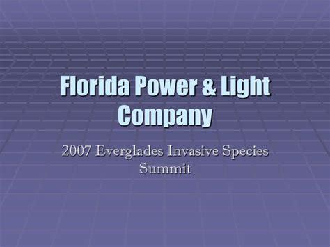 power light company ppt florida power light company powerpoint