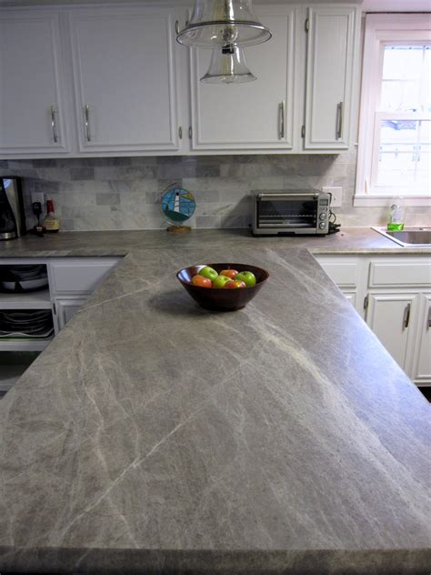 How To Do Laminate Countertops by Remodelaholic More Diy Countertop Reviews