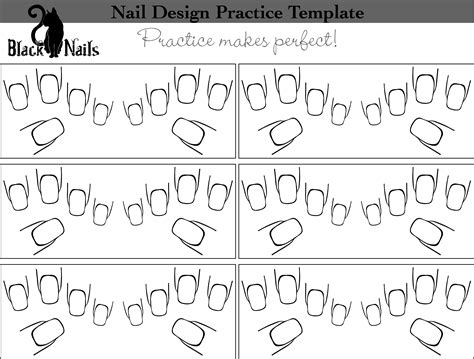 coloring pages of hands with nails nail art design practice sheet full hand versions