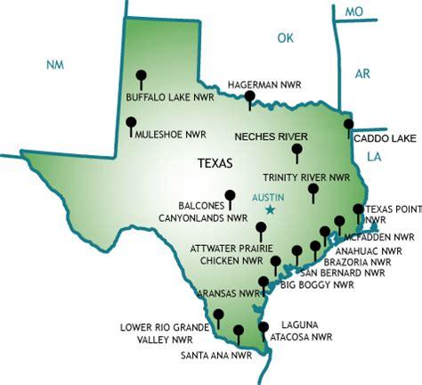 texas national wildlife refuges map refuge road and trails program national wildlife refuge system