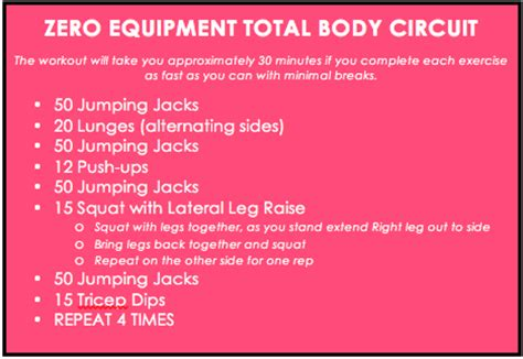no equipment total workout thinspiration