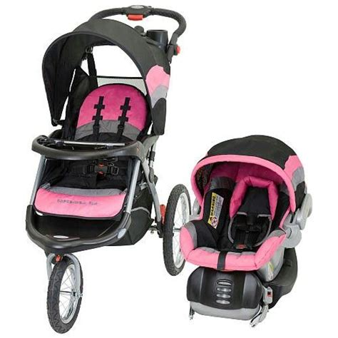 purple and gray stroller and carseat baby trend expedition jogger travel system w car