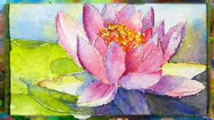Painting Lotus Flower How To Paint The Waterlily With Lotus Flower Miniature