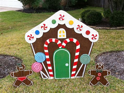 gingerbread house yard art christmas decoration