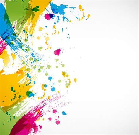 colorful paint splashing vector free vector in encapsulated postscript eps eps vector