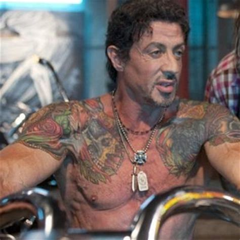 does sylvester stallone have tattoos stallone with tattoos