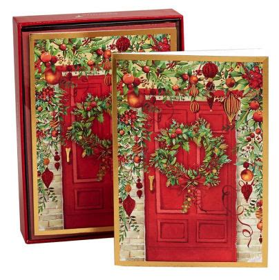 Barnes And Noble Holiday Gift Cards - holiday doorway christmas boxed card 59584135370 item barnes noble 174