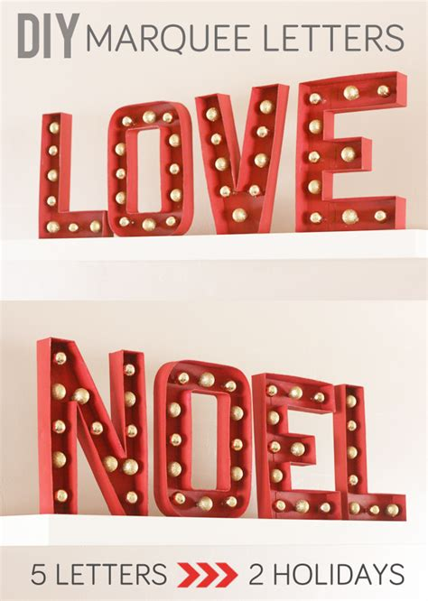 diy marquee letters for valentines and christmas my