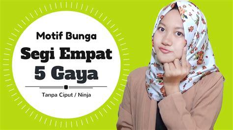 tutorial hijab segi empat motif bunga tutorial hijab segi empat 5 gaya motif bunga terbaru