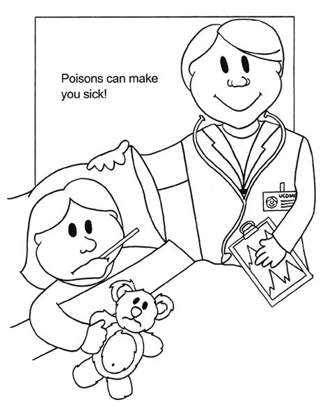 Poison Control Free Colouring Pages Poison Coloring Page