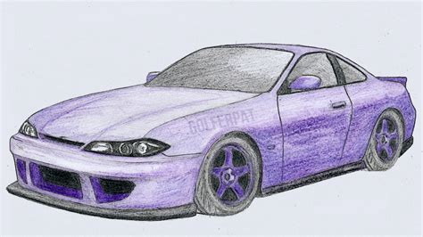 nissan silvia drawing how to draw 240sx