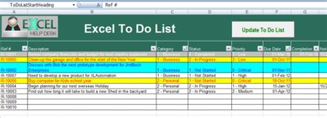 To Do List Excel Template Free To Do List Excel To Do List Template