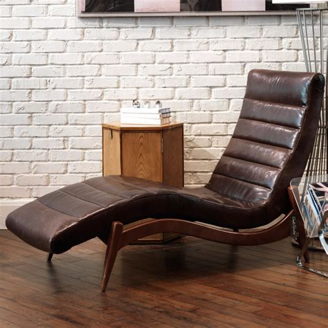 Wood And Leather Lounge Chair Design Ideas Wondrous Chaise Lounge With Brown Leather Materials Combined Wooden Frames Also