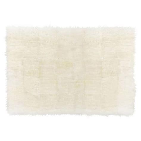 ivory fur rug turan modern ivory wool sheepskin fur rug 5 6 x 8 kathy kuo home