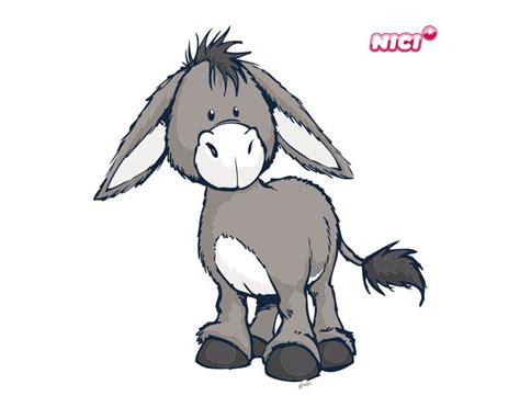 Wandtattoo Kinderzimmer Esel by Wandtattoo Nici Stehend Esel Und Lustig