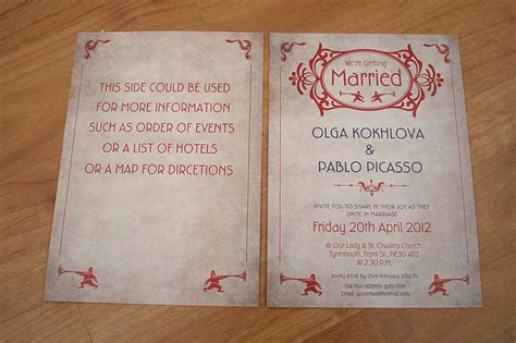 nouveau wedding invitation nouveau themed wedding invitation by magik moments notonthehighstreet