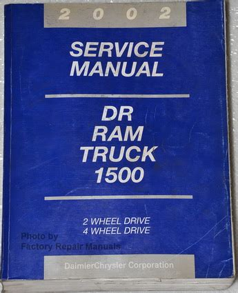 free service manuals online 2002 dodge ram van 1500 transmission control 2002 dodge ram 1500 truck factory service manual original shop repair factory repair manuals