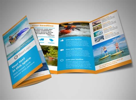 Water Sport Rentals Brochure Template Mycreativeshop Sports Brochure Templates