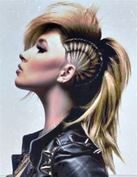 how to do punk hairstyles for long hair punk long mohawk hairstyles for women hair pinterest