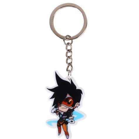 Dijamin Keychain Overwatch Reaper overwatch 21 heros acrylic keychain key ring pendant hanging gift