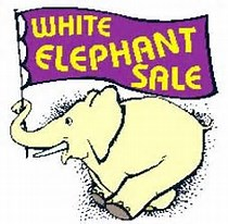 Image result for white elephant sale clip art