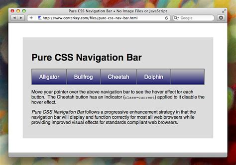 design menu bar in css menu bar design html code