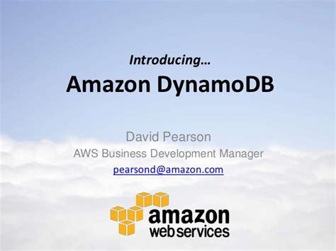 amazon dynamodb amazon dynamodb fast predictable highly scalable nosql