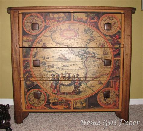 Decoupage Furniture With Maps - 17 best images about travel themed bedroom on
