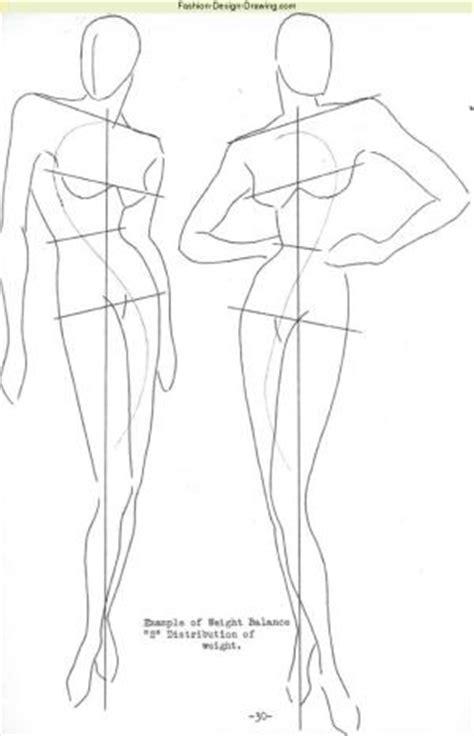Drawing Easy fashion figure blocking in learn fashion design drawing