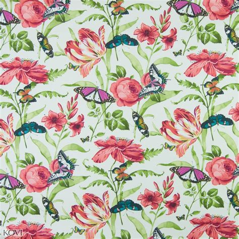 Poppy Upholstery Fabric by Poppy Floral Print Upholstery Fabric