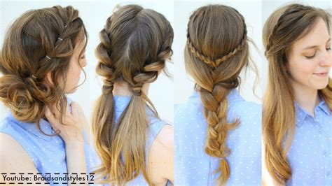 easy to make summer hairstyles 4 easy summer hairstyle ideas summer hairstyles