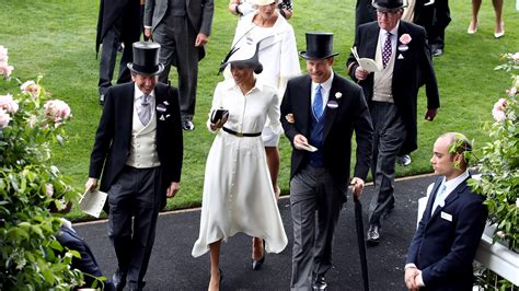 Last Day At Royal Ascot Resembles A Muddy Day At Glastonbury by In Pictures Hats As Harry And Meghan Join The