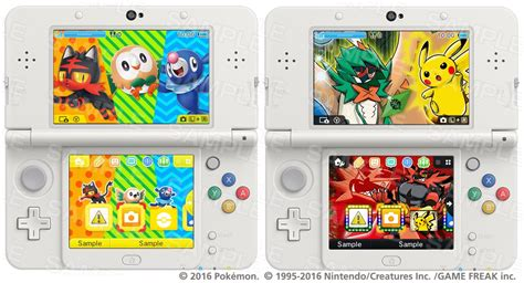 themes of pokemon games two new sun moon 3ds themes released pok 233 jungle net