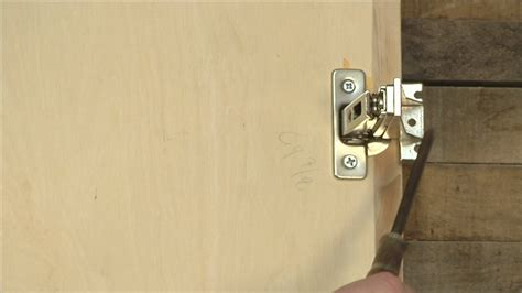 adjusting kitchen cabinet doors how to adjust cabinet door hinges ehow
