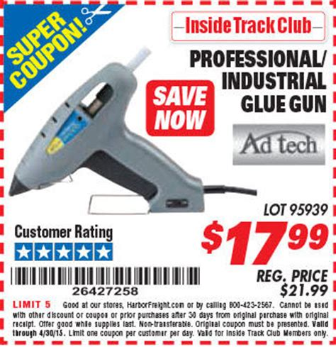Promo Glue Gun harbor freight tools coupon database free coupons 25 percent coupons toolbox coupons