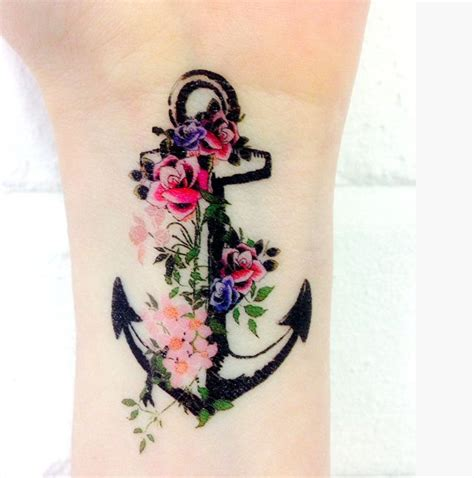 L Cm0023 Anchor And Flowers 28 beautiful anchor designs