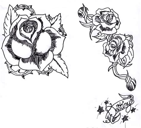 scroll and rose tattoo designs and a destiny scroll by razael