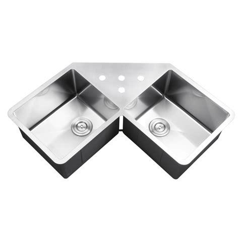 43 inch kitchen sink 43 inch stainless steel undermount butterly corner