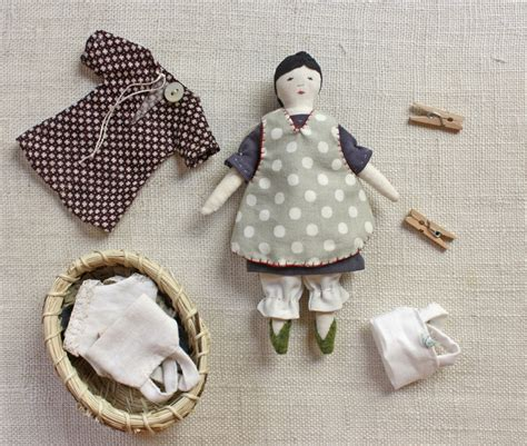 rag doll novel tiny rag doll and wardrobe pattern wood handmade