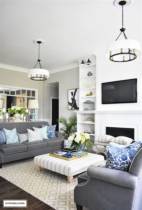 20 fresh ideas for decorating with blue and white