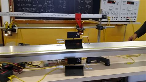 rotaia a cuscino d relazione moto rettilineo uniforme su rotaia a cuscino d