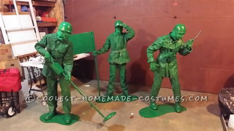 Coolest Handmade Costumes - cool costume for our triplets green army